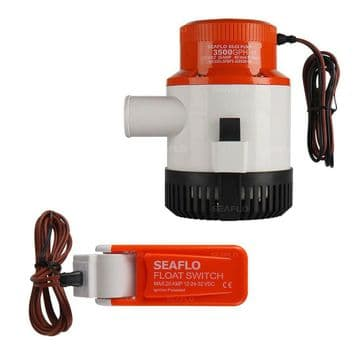 SEAFLO 12v 3500GPH SUBMERSIBLE MARINE BILGE PUMP with AUTO FLOAT SWITCH rohs iso